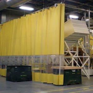 Industrievorhang Kombo Gelb & Transparent