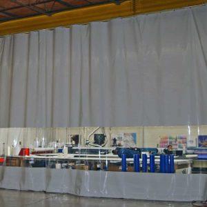Industrievorhang Kombo Grau & Transparent