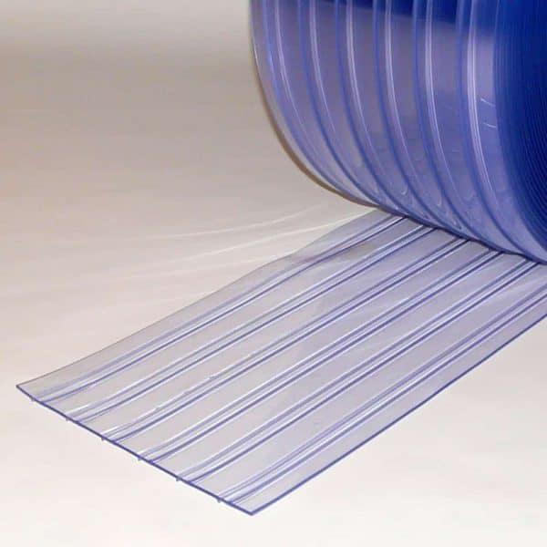 PVC Streifen Vorhang Meterware Doppelt Gerippt 300 mm x 3 mm