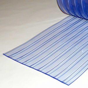 PVC Streifen Vorhang Meterware Doppelt Gerippt 400 mm x 4 mm