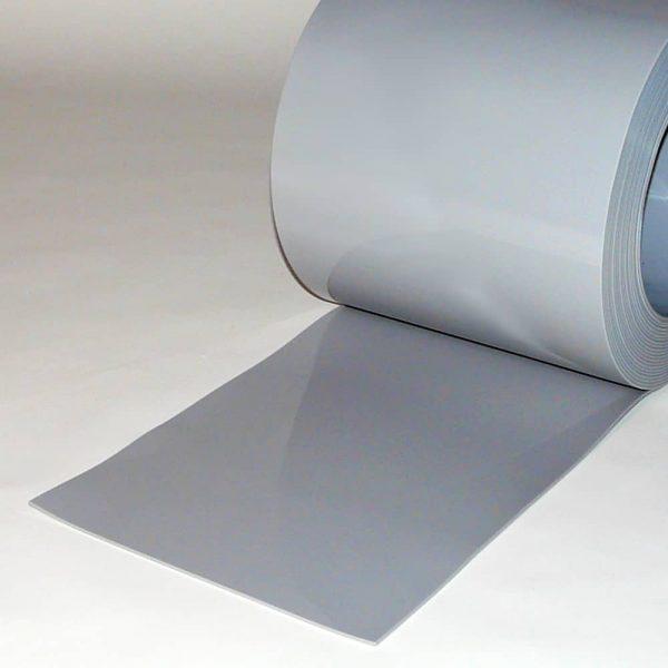 PVC Streifen Vorhang Meterware Grau 300 mm x 3 mm