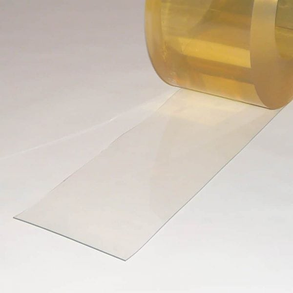 PVC Streifen Vorhang Meterware Helltransparent 200 mm x 2 mm
