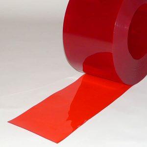 PVC Streifen Meterware Rot Transparent 300 mm x 3 mm