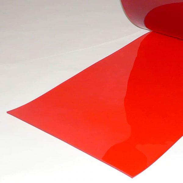 PVC Streifen Vorhang Meterware Rot Transparent 400 mm x 4 mm