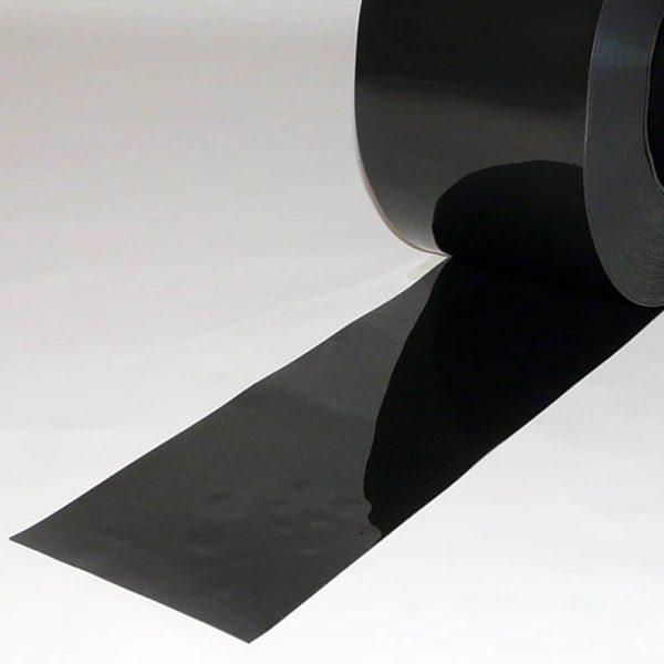 PVC Streifen Vorhang Meterware Schwarz 200 mm x 2 mm