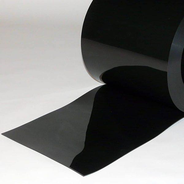PVC Streifen Meterware Schwarz 300 mm x 3 mm