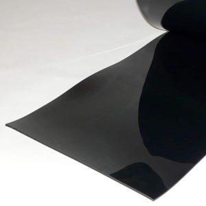PVC Streifen Meterware Schwarz 400 mm x 4 mm