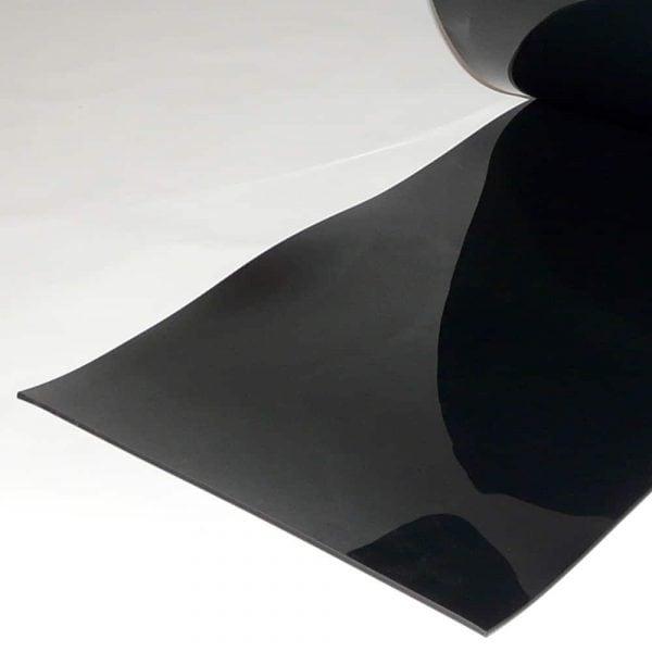 PVC Streifen Vorhang Meterware Schwarz 400 mm x 4 mm