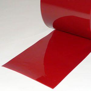 PVC Streifen Vorhang Meterware Schweisserschutz Rot 300 mm x 2 mm