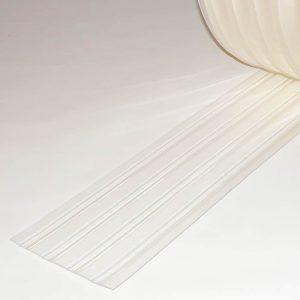 PVC Streifen Meterware Tiefkühlzelle Gerippt 200 mm x 2 mm