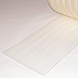 PVC Streifen Meterware Tiefkühlzelle Gerippt 300 mm x 3 mm