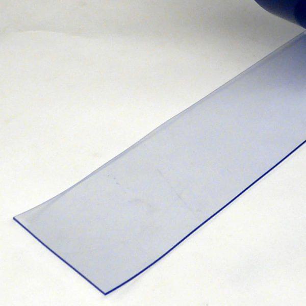 PVC Streifen Vorhang Meterware Transparent 100 mm x 2 mm