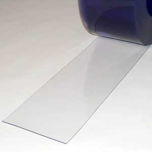 PVC Streifen Vorhang Meterware Transparent 200 mm x 2 mm