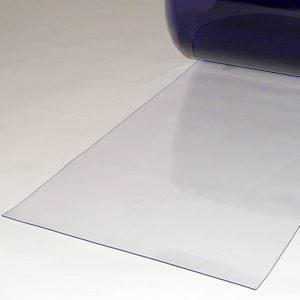 PVC Streifen Vorhang Meterware Transparent 400 mm x 2 mm