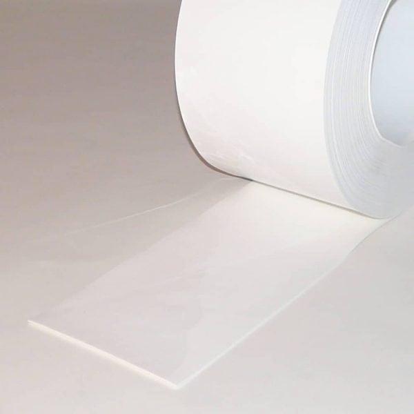 PVC Streifen Vorhang Meterware Weiss 200 mm x 2 mm