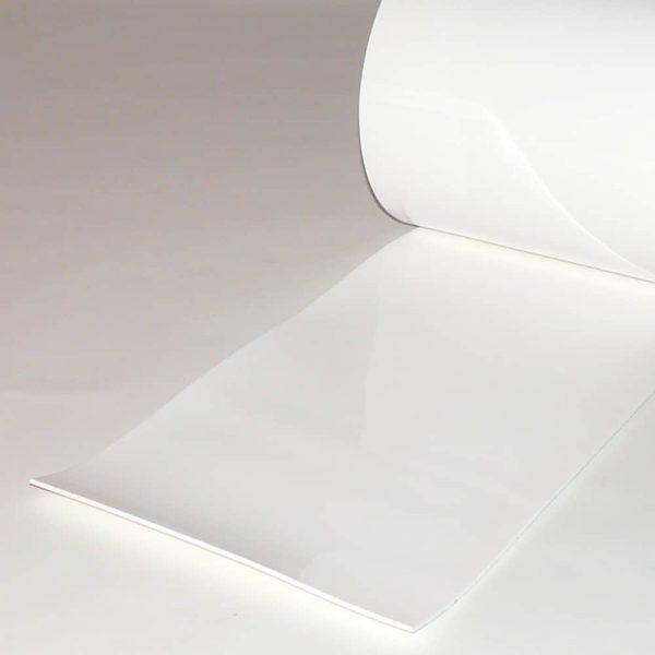 PVC Streifen Vorhang Meterware Weiß 300 mm x 3 mm