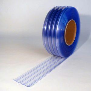 PVC Streifen Rollenware Doppelt Gerippt 50 m x 200 mm x 2 mm