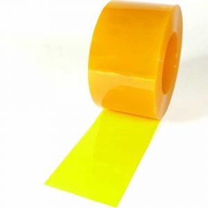 PVC Streifen Rollenware Gelb Transparent 50 m x 200 mm x 2 mm