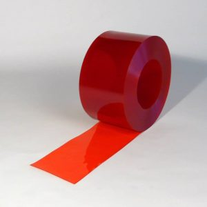 PVC Streifen Rollenware Rot Transparent 50m x 200 mm x 2 mm