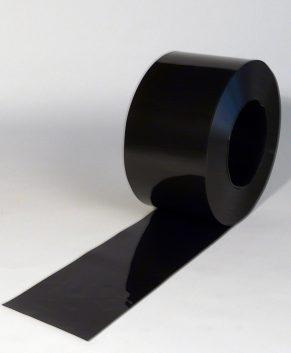 PVC Streifen Rollenware Schwarz 50 m x 200 mm x 2 mm