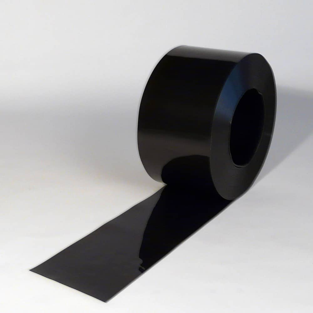 pvc streifen rollenware schwarz 50 m x 200 x 2 mm. Black Bedroom Furniture Sets. Home Design Ideas