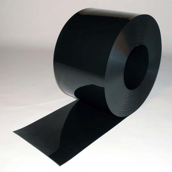 PVC Streifen Rollenware Schwarz 50 m x 300 mm x 3 mm