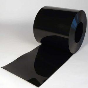 PVC Streifen Rollenware Schwarz 50 m x 400 mm x 4 mm