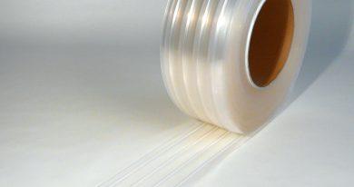 PVC Streifen Rollenware Tiefkühlzelle Gerippt 50 m x 200 mm x 2 mm