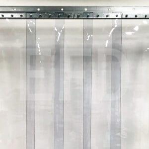 PVC-Streifenvorhang-Komplett-Verzinktem Stahl-Wandbefestigung-STD-Lamellen-200mm