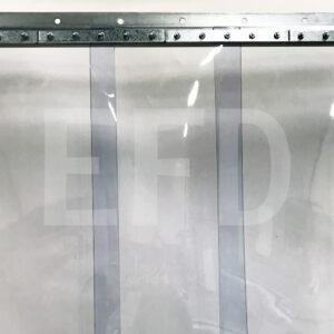 PVC-Streifenvorhang-Komplett-Verzinktem Stahl-Wandbefestigung-STD-Lamellen-300mm