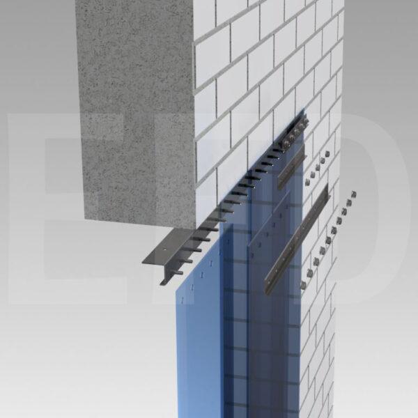 PVC-Streifenvorhang-Verzinktem Stahl-Deckenbefestigung