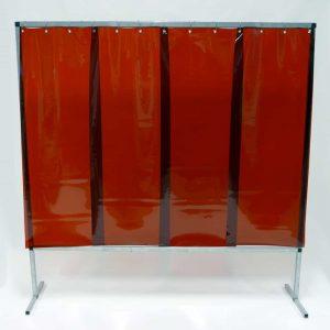Schweißschutzwand-Lamel 570 Bronze 200 cm x 200 cm