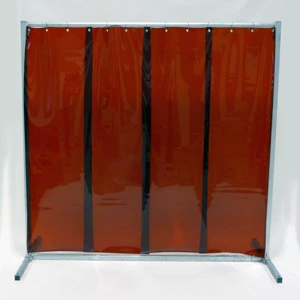 Schweißschutzwand Lamel 570 Bronze 210 cm x 200 cm