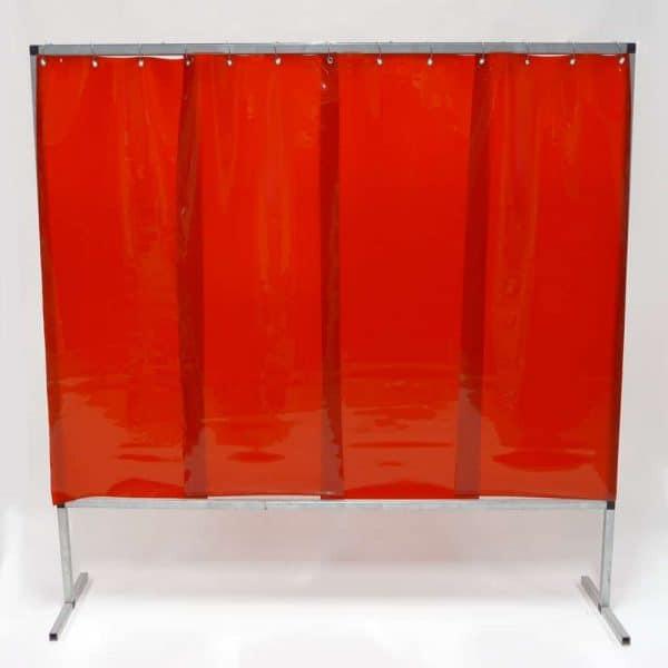 Schweißschutzwand-Lamel 570 Rot 200 cm x 200 cm