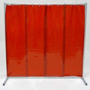Schweißschutzwand-Lamel 570 Rot 210 cm x 200 cm