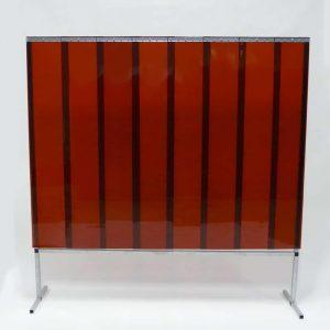Mehr über Schweißschutzwand Lamellen Bronze 200 cm x 200 cm