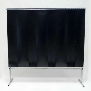 Schweißschutzwand Lamellen Dunkelgrün 200 cm x 200 cm