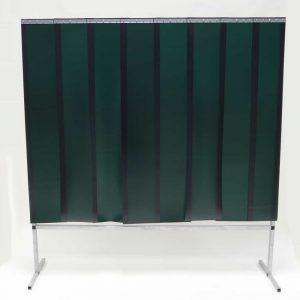 Schweißschutzwand Lamellen Grün 200 cm x 200 cm