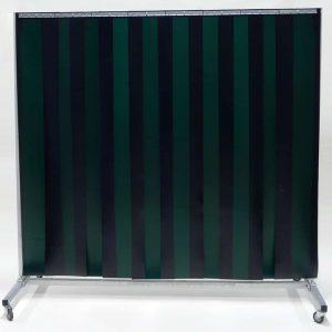 Schweißschutzwand Mobil Lamellen Grün 210 cm x 200 cm