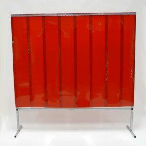 Schweißschutzwand Lamellen Rot 200 cm x 200 cm