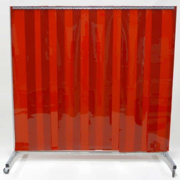 Schweißschutzwand Lamellen Rot 210 cm x 200 cm