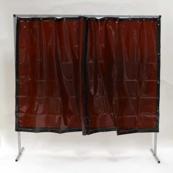 Schweißschutzwand Vorhang Vorhang Bronze 200 cm x 200 cm