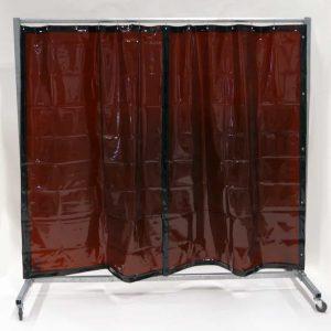 Schweißschutzwand Mobil Vorhang Bronze 210 cm x 200 cm