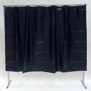 Schweißschutzwand Vorhang Dunkelgrün 200 cm x 200 cm