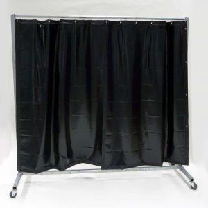 Schweißschutzwand Mobil Vorhang Dunkelgrün 210 cm x 200 cm