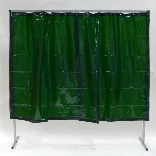 Schweißschutzwand Vorhang Grün 200 cm x 200 cm