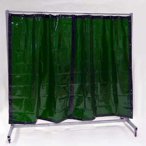 Schweißschutzwand Mobil Vorhang Grün 210 cm x 200 cm