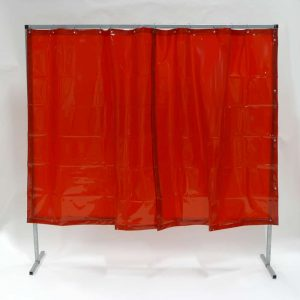 Schweißschutzwand Vorhang Rot 200 cm x 200 cm