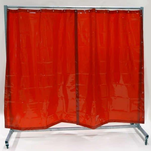 Schweißschutzwand Mobil Vorhang Rot 210 cm x 200 cm