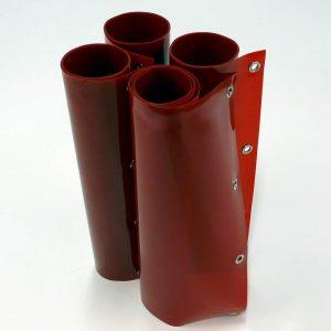 Schweißlamellen Rot 200 cm x 180 cm